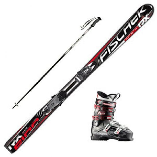 Комплект взрослый, лыжи Fisher, ботинки, палки.