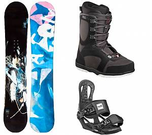 Комплект взрослый, сноуборд Salomon - Head, крепления, ботинки.