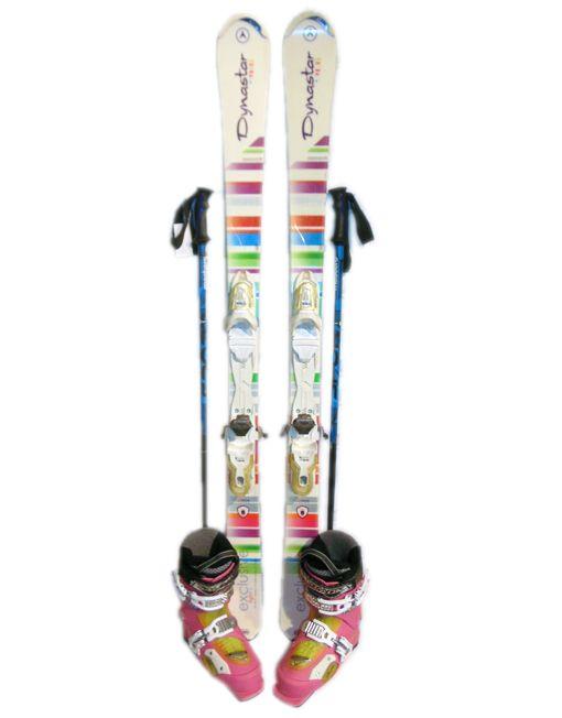 Комплект детский, лыжи, ботинки, палки.